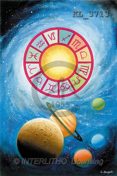 Interlitho, Luis, FANTASY, paintings, universe, zodiacs, KL, KL3713,#fantasy# illustrations, pinturas