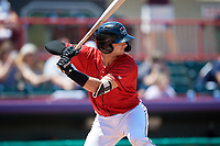 Erie SeaWolves Joey Morgan (20) at bat during an Eastern League game against the Harrisburg Senators on June 30, 2019 at UPMC Park in Erie, Pennsylvania.  Erie defeated Harrisburg 4-2.  (Mike Janes/Four Seam Images)