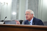 United States Senator Roger Wicker (Republican of Mississippi), Chairman, US Senate Committee on Commerce, Science, & Transportation asks a question during a US Senate Committee on Commerce, Science, and Transportation oversight hearing to examine the Federal Communications Commission in Washington, DC on June 24, 2020. <br /> Credit: Jonathan Newton / Pool via CNP/AdMedia