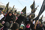 Palestinian Islamic Jihad supporters attend a rally to mark the 23rd anniversary of the establishment of the Islamic Jihad movement and the assassination of the founder of their movement Fathi Shiqaqi , in Gaza city on Oct. 29,2010 . Photo by Ashraf Amra