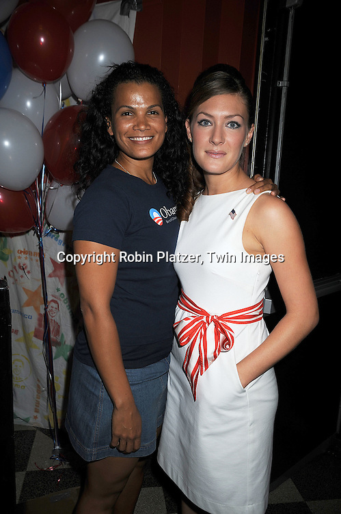 """One Life to Live's January LaVoy with BethAnn Bonner..at The """"Spare Some Change:NYC Artists for Barack Obama""""  fundraiser on August 11, 2008 at The Fifth Floor Theatre at New York University. ....Robin Platzer, Twin Images"""