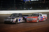 #51: Logan Seavey, Kyle Busch Motorsports, Toyota Tundra Mobil 1 and #22: Austin Self, AM Racing, Chevrolet Silverado GO TEXAN