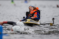 COPY BY TOM BEDFORD<br /> Sunday 26 June 2016<br /> Pictured: Poppy is pulled along by dad Rob during the race <br /> Re: A very special father-and-daughter team have tackled the Cardiff Triathlon.<br /> Poppy Jones, 11, who will be competing alongside dad Rob Jones, wants to win the event.<br /> And she's not going to let the fact that she has quadriplegic cerebral palsy , which means she can't sit, stand, roll or support herself, and chronic lung disease stop her.<br /> She will be by Rob's side every step of the way thanks to a cutting-edge wheelchair and boat – for Rob to push or pull – designed especially for the event, which sees participants take part in a swim across Cardiff Bay , a run and a bike ride.