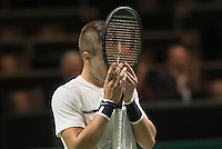 ABN AMRO World Tennis Tournament, Rotterdam, The Netherlands, 14 februari, 2017, Borna Coric (CRO) wins and celebrates<br /> Photo: Henk Koster