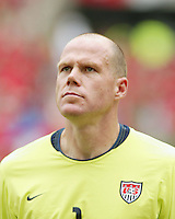 Brad Friedel during the national anthems. The USA tied South Korea, 1-1, during the FIFA World Cup 2002 in Daegu, Korea.