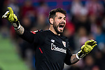Goalkeeper Iago Herrerin Buisan of Athletic Club de Bilbao gestures during the La Liga 2017-18 match between Getafe CF and Athletic Club at Coliseum Alfonso Perez on 19 January 2018 in Madrid, Spain. Photo by Diego Gonzalez / Power Sport Images