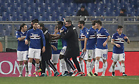Calcio, Serie A: AS Roma - Sampdoria, Roma, stadio Olimpico, 28 gennaio 2018. i<br /> Sampdoria's Duvàn Zapata (c) celebrates after scoring with his teammates during the Italian Serie A football match between AS Roma and Sampdoria at Rome's Olympic stadium, January 28, 2018.<br /> UPDATE IMAGES PRESS/Isabella Bonotto