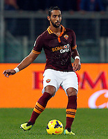 Calcio, Serie A: Roma vs ChievoVerona. Roma, stadio Olimpico, 31 ottobre 2013.<br /> AS Roma defender Mehdi Benatia, of Morocco, in action during the Italian Serie A football match between AS Roma and ChievoVerona at Rome's Olympic stadium, 31 October 2013.<br /> UPDATE IMAGES PRESS/Riccardo De Luca