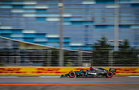 26th September 2020, Sochi, Russia; FIA Formula One Grand Prix of Russia, qualification;  77 Valtteri Bottas FIN, Mercedes-AMG Petronas Formula One Team takes 3rd on grid