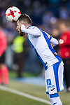 Roberto Roman Triguero of CD Leganes heads the ball during the Copa del Rey 2017-18 match between CD Leganes and Real Madrid at Estadio Municipal Butarque on 18 January 2018 in Leganes, Spain. Photo by Diego Gonzalez / Power Sport Images
