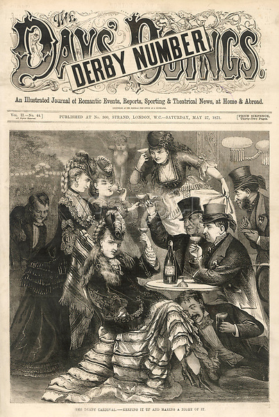 A jolly party after the Derby     Date: 1871     Source: The Day's Doings vol 2 / 27 May 1871 page 273