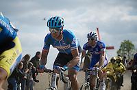 last ever 'classic' (but first ever Roubaix) for David Millar (GBR/Garmin-Sharp)<br /> <br /> Paris-Roubaix 2014