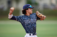 Sebastian Murillo (11) during the WWBA World Championship at the Roger Dean Complex on October 12, 2019 in Jupiter, Florida.  Sebastian Murillo attends Fountain Valley High School in Huntington Beach, CA and is committed to Long Beach State.  (Mike Janes/Four Seam Images)