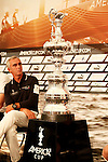 America's Cup World Series skippers press conference,  in Cascais Portugal. Loick Peyron.