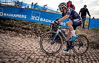 David van der Poel (NED/Alpecin-Fenix) up the Koppenberg<br /> <br /> Koppenbergcross 2020 (BEL)<br /> <br /> ©kramon
