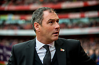 Manager of Swansea City, Paul Clement looks on during the Premier League match between Arsenal and Swansea City at Emirates stadium, London, England, UK. Saturday 28 October 2017