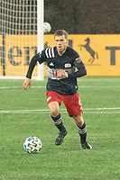 FOXBOROUGH, MA - NOVEMBER 1: Scott Caldwell #6 of New England Revolution during a game between D.C. United and New England Revolution at Gillette Stadium on November 1, 2020 in Foxborough, Massachusetts.