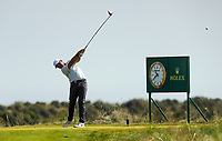 150719 | The 148th Open - Monday Practice<br /> <br /> Jason Day of Australia tees off on the 17th during practice for the 148th Open Championship at Royal Portrush Golf Club, County Antrim, Northern Ireland. Photo by John Dickson - DICKSONDIGITAL