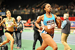 Keshia Baker wins the women's 500 yard dash at the first U.S. Open on January 29, 2012 at Madison Square Garden in New York, New York.  (Bob Mayberger/Eclipse Sportswire)