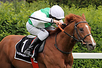 15th May 2020, Muenchen-Riem racecourse, Munich, Germany. Flat racing;  Wahiba Sands with Rene Piechulek up