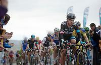 Sir Bradley Wiggins (GBR/SKY) on the cobbles of the Oude Kwaremont<br /> <br /> Ronde van Vlaanderen 2014