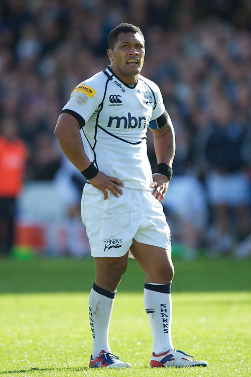 Johnny Leota of Sale Sharks looks on during the Aviva Premiership match between Bath Rugby and Sale Sharks at the Recreation Ground on Saturday 29th September 2012 (Photo by Rob Munro)