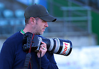 Photographer William Booth covers the Farah Palmer Cup women's rugby match between Manawatu Cyclones and Taranaki Whio at CET Stadium in Palmerston North, New Zealand on Saturday, 24 July 2021 Photo: Dave Lintott / lintottphoto.co.nz