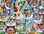 Randy, CHRISTMAS SANTA, SNOWMAN, WEIHNACHTSMÄNNER, SCHNEEMÄNNER, PAPÁ NOEL, MUÑECOS DE NIEVE, paintings+++++,USRW339,#x# ,puzzle,puzzels