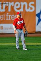 Zach Gibbons (37) of the Orem Owlz on defense against the Ogden Raptors in Pioneer League action at Lindquist Field on July 29, 2016 in Ogden, Utah. Orem defeated Ogden 8-5. (Stephen Smith/Four Seam Images)