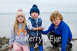 Enjoying playing on Ballyheigue beach on Saturday, l to r: Freya, Oran and Dylan Corridan.