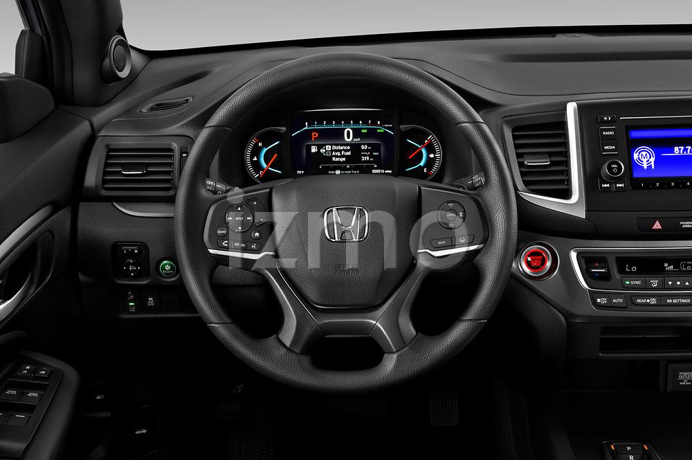 Car pictures of steering wheel view of a 2019 Honda Passport Sport 5 Door SUV Steering Wheel