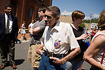 May 4, 2008. Marion, NC.. Just 2 days before the North Carolina primary, former president Bill Clinton campaigned across rural western North Carolina, stumping for his wife. Senator Hillary Clinton, in her drive for rural and working class votes.. William Bixon, of Marion, says he will vote for Hillary.