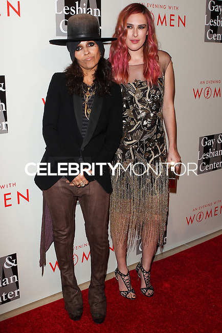 """BEVERLY HILLS, CA, USA - MAY 10: Linda Perry, Rumer Willis at the """"An Evening With Women"""" 2014 Benefiting L.A. Gay & Lesbian Center held at the Beverly Hilton Hotel on May 10, 2014 in Beverly Hills, California, United States. (Photo by Celebrity Monitor)"""