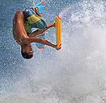 Body boarder action on Sandy's Beach in Honolulu Hawaii.