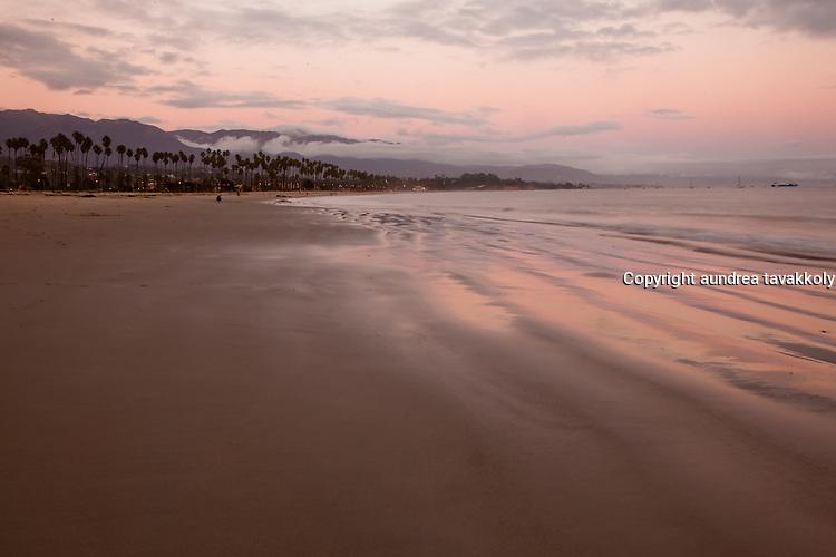 Sunrise over east beach, Santa Barbara, California
