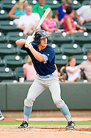Josh Richmond #3 of the Myrtle Beach Pelicans at bat against the Winston-Salem Dash at BB&T Ballpark on July 5, 2012 in Winston-Salem, North Carolina.  The Dash defeated the Pelicans 12-5.  (Brian Westerholt/Four Seam Images)