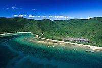 Aerial view of Reef Bay<br /> Virgin Islands National Park<br /> St. John, U.S. Virgin Islands