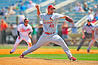 13 March 2009: St. Louis Cardinals' pitcher Kyle McClellan on the mound during a Spring Training game against the Baltimore Orioles at Fort Lauderdale Stadium in Fort Lauderdale, Florida. The Cardinals defeated the Orioles 6-5 in the Grapefruit League matchup. Mandatory Photo Credit: Ed Wolfstein Photo