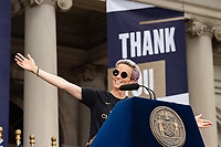 NEW YORK, NEW YORK - JULY 10: Megan Rapinoe during a victory celebration for the 2019 FIFA Women's World Cup winning United States women's national soccer team at City Hall on July 10, 2019 in New York, United States.