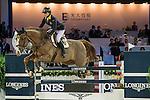 Jacqueline Lai of Hong Kong riding Basta during the Hong Kong Jockey Club Trophy competition, part of the Longines Masters of Hong Kong on 10 February 2017 at the Asia World Expo in Hong Kong, China. Photo by Marcio Rodrigo Machado / Power Sport Images