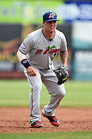 Fort Myers Miracle catcher Tyler Grimes (2) during a game against the Charlotte Stone Crabs on April 16, 2014 at Charlotte Sports Park in Port Charlotte, Florida.  Fort Myers defeated Charlotte 6-5.  (Mike Janes/Four Seam Images)