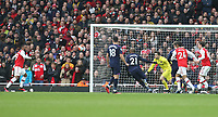 Arsenal's Alexandre Lacazette is poised to score the only goal of the game<br /> <br /> Photographer Rob Newell/CameraSport<br /> <br /> The Premier League - Arsenal v West Ham United - Saturday 7th March 2020 - The Emirates Stadium - London<br /> <br /> World Copyright © 2020 CameraSport. All rights reserved. 43 Linden Ave. Countesthorpe. Leicester. England. LE8 5PG - Tel: +44 (0) 116 277 4147 - admin@camerasport.com - www.camerasport.com