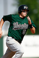 May 20, 2007: Cyle Hankerd of the Visalia Oaks runs the bases against the Rancho Cucamonga Quakes at The Epicenter in Rancho Cucamonga,CA.  Photo by Larry Goren/Four Seam Images