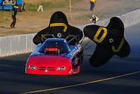 Jul. 29, 2011; Sonoma, CA, USA; NHRA funny car driver Gary Densham during qualifying for the Fram Autolite Nationals at Infineon Raceway. Mandatory Credit: Mark J. Rebilas-