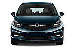 Car photography straight front view of a 2017 Opel Zafira Innovation 5 Door Mini MPV Front View