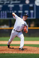 GCL Yankees West relief pitcher Kyle Zurak (28) delivers a pitch during the second game of a doubleheader against the GCL Yankees East on July 19, 2017 at the Yankees Minor League Complex in Tampa, Florida.  GCL Yankees West defeated the GCL Yankees East 3-1.  (Mike Janes/Four Seam Images)