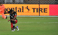 WASHINGTON, DC - SEPTEMBER 12: Donovan Pines #23 of D.C. United kneels during a game between New York Red Bulls and D.C. United at Audi Field on September 12, 2020 in Washington, DC.