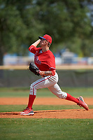 Philadelphia Phillies pitcher Brandon Ramey (31) during an exhibition game against the Canada Junior National Team on March 11, 2020 at Baseball City in St. Petersburg, Florida.  (Mike Janes/Four Seam Images)