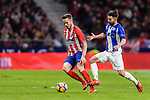 Saul Niguez Esclapez of Atletico de Madrid (L) fights for the ball with Ruben Duarte of Deportivo Alaves  during the La Liga 2017-18 match between Atletico de Madrid and Deportivo Alaves at Wanda Metropolitano Stadium on 16 December 2017 in Madrid, Spain. Photo by Diego Souto / Power Sport Images