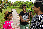 Fishing Cat (Prionailurus viverrinus) biologist, Anya Ratnayaka, speaking to fishing cat enthusiasts, Urban Fishing Cat Project, Diyasaru Park, Colombo, Sri Lanka